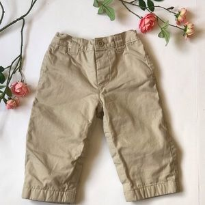 Baby Gap khaki lined  warm infant snapped  pants